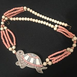 Philippines Turtle Shell Necklace - Vintage